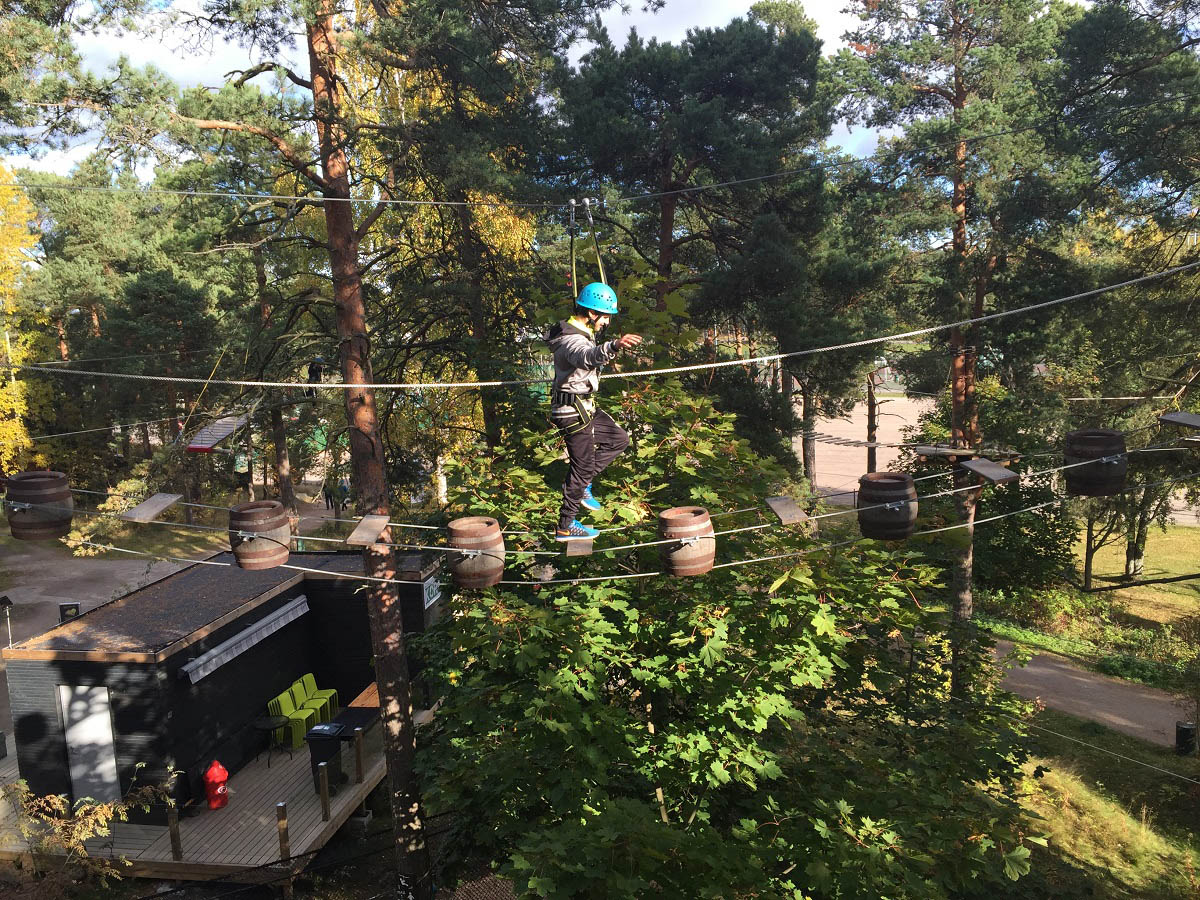 Adventure sports: high rope